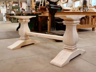 Hanson woodturning hanson woodturning square turnings kitchen islands table legs pedestal bases table watchthetrailerfo